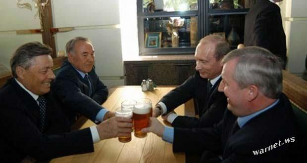 Путин пьёт пиво