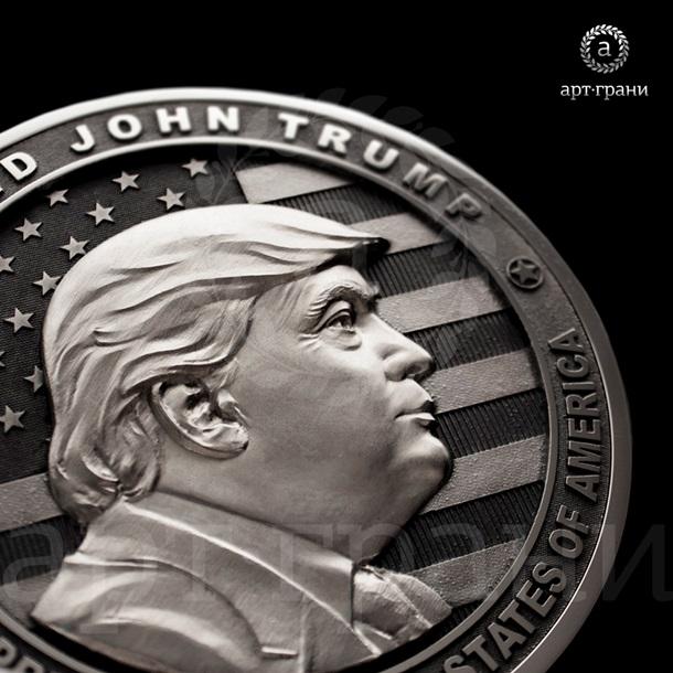 Дональд Трамп монеты