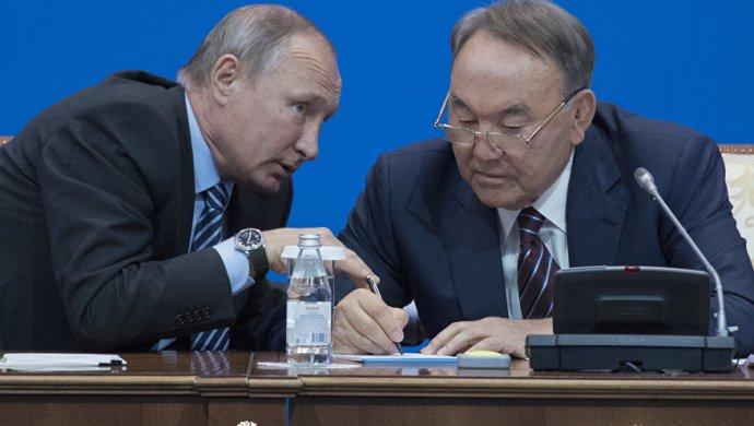 Путин и Назарбаев в Челябинске