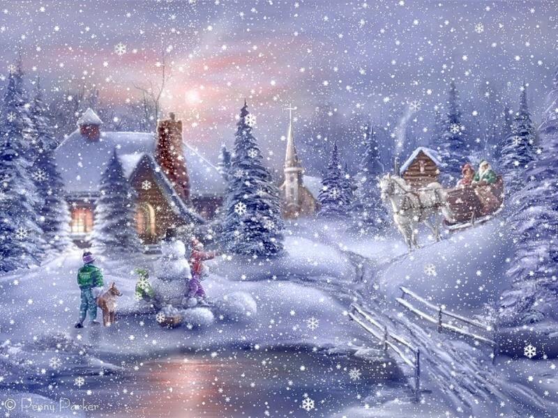 снег рождество