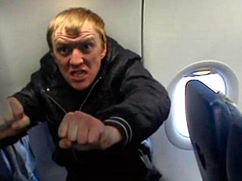 пьяный дебошир в самолёте