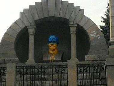 в Челябинске осквернили памятник Ленина