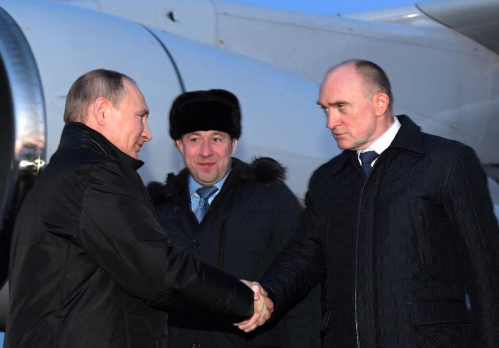 Путин прилетел в Челябинск