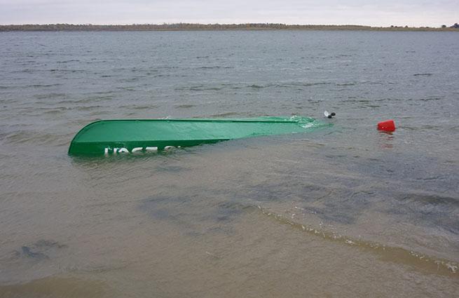 она утонула