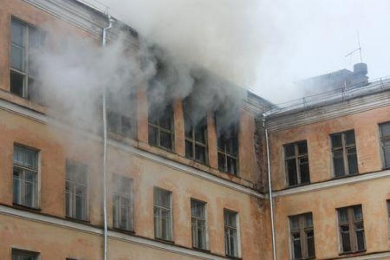 школа горит