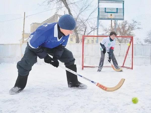 детский хоккей в валенках