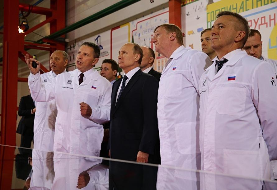 Путин в Челябинске 2016